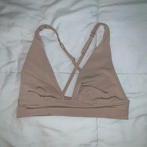 Nude Bralette w/ Criss-Cross Back